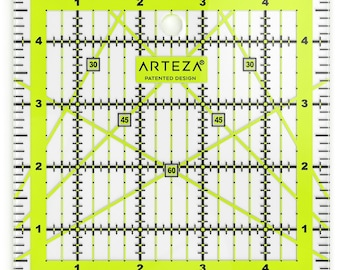 Arteza Acrylic Quilters Ruler 5x5