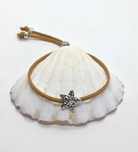 boho jewelry, beachcomber starfish bracelet