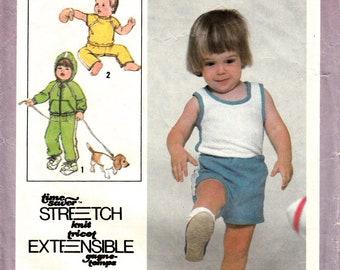 One dollar SALE Simplicity 8949 Pattern for toddler - Children tank top, pant, short, jacket sz 1/2 - Vintage sewing pattern