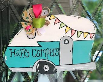 Happy Camper Door Hanger