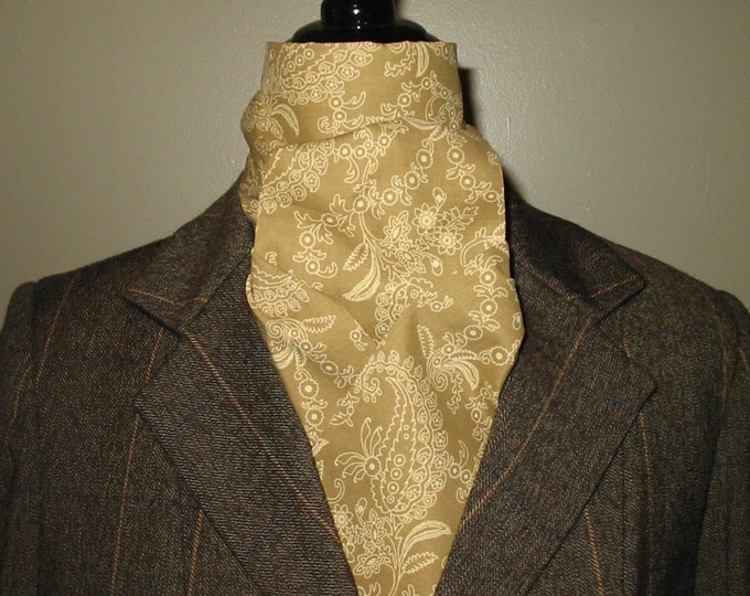 Sage Gold on Gold Paisley 2-Fold Stock Tie