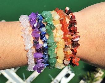 Mothers Day Bracelet SET, Chakra Healing Bracelet SET w/ Reiki for Meditation, Chakras, Yoga Gift / 7 Chakras Stones Jewelry