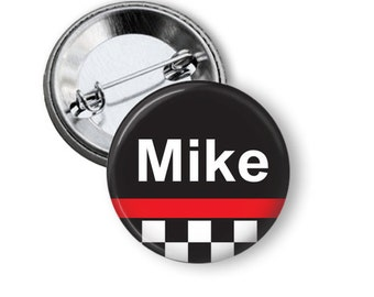 Racing Team pinback button badge or fridge magnet