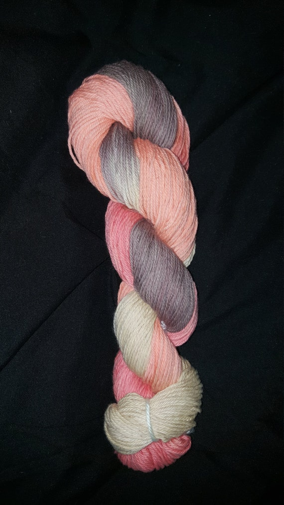 "Bearded Lady-""Coney Island Collection"" 100 Organic Cotton, Hand Painted, Variegated Yarn"