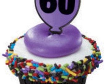 "Milestone ""60"" Cupcake Picks"