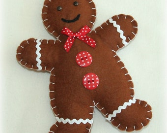 Sew Your Own Gingerbread Man Kit ~ Makes 2, Felt, Christmas, Gift