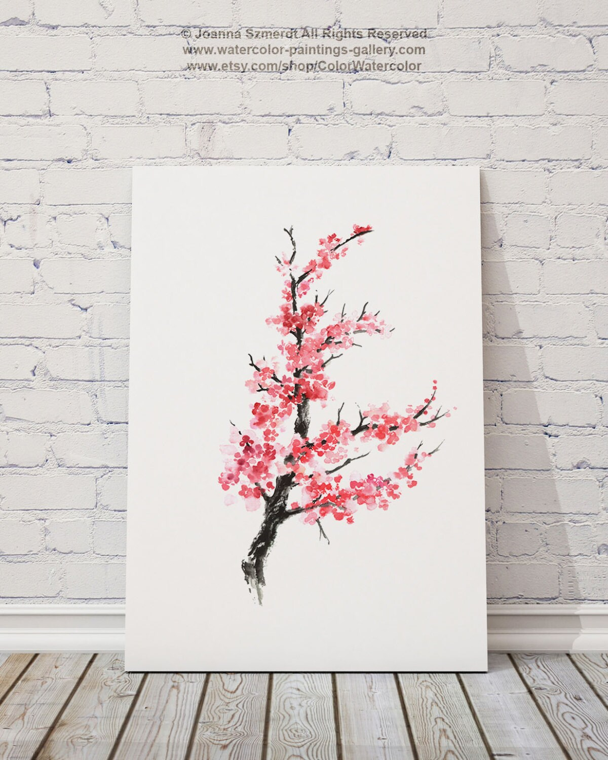 Blossom Tree Drawing: Cherry Blossom Tree Drawing Abstract Ink Flower Cherry