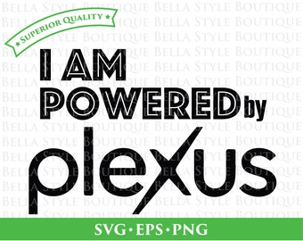 I Am Powered by Plexus svg cut file