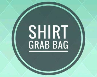 Shirt grab bag, Raglan, tee shirt, long sleeves, 3/4 sleeve grab bag, surprise fabrics, plaid, solids