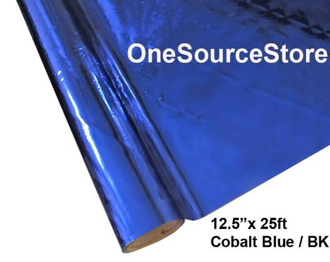 """HTV Textile Foil* / 12.5 """"x 25 ft / Cobalt Blue / BK"""