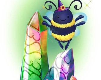 Blessed Bee Art Print
