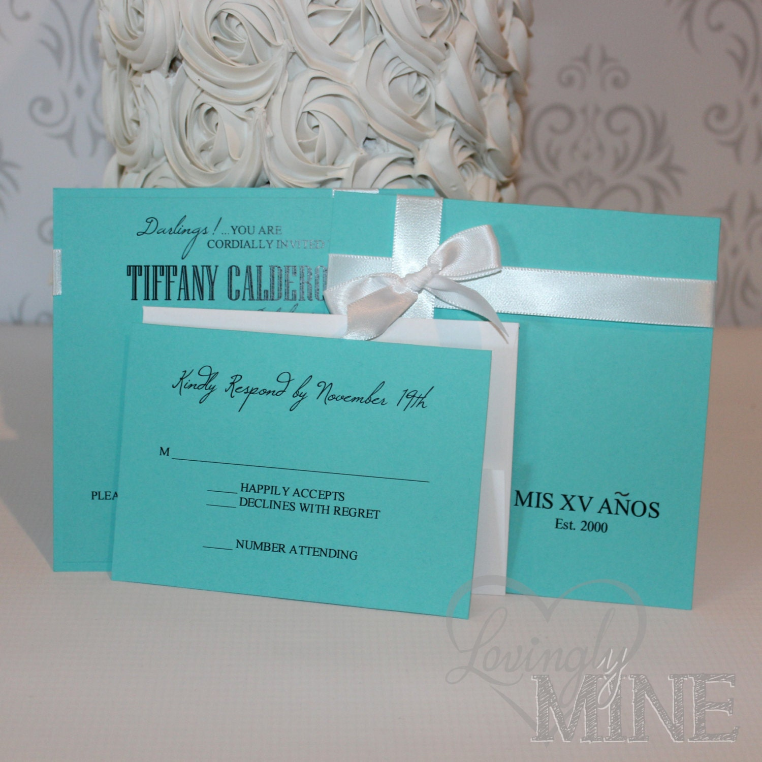Quinceanera invitations with rsvp card set of 10 in light zoom stopboris Choice Image