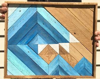 Wave Art - Wood Wave Wall Art - Wooden Wave - Rustic Wave - Rustic Beach Decor - Reclaimed Wood Wave - Rustic Wave- Reclaimed Wood Art