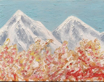 Oil painting of Mountains
