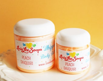 Whipped Body Butter Peach Daiquiri  - Whipped Body Lotion, Body Frosting, Gift For Her, Skin Care, Hand Lotion, Body Cream, Body Lotion