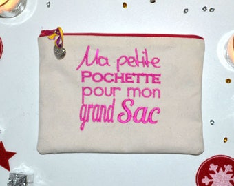 My small pocket for my large bag-pink-22x16cm collection exclusive - mother's day