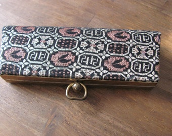Vintage Eyeglass Case With Print Excellent Condition