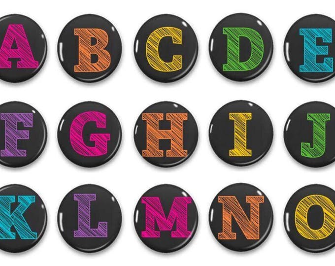 Chalkboard Alphabet Magnets - Letter Magnets - ABC Practice - Classroom Magnets - Teacher Gifts - Educational Toys - Learning