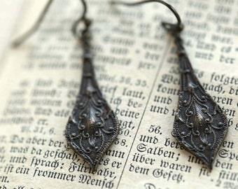 Brass Drop Earrings 2