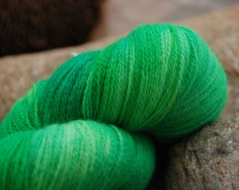 handdyed Bfl Laceyarn, colour s123, 2ply