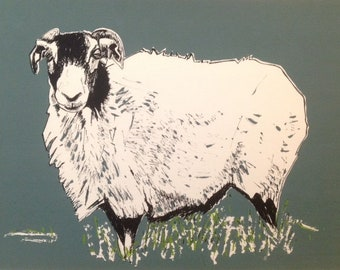 Swaledale 1, Limited Edition Hand Pulled Screenprint, Interior Artwork, Handmade in Yorkshire