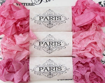 Crinkled Seam Binding Ribbon, Pink, Rayon Shabby Ribbon, French Vintage,Junk Journals, Sewing, Doll Making, Crazy Quilting,  Haute Couture