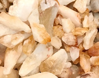 1/2 Pound of Citrine Points - Chakra, Reiki, Crystal Healing - Citrine