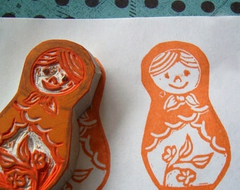 Matryoshka Rubber Stamp