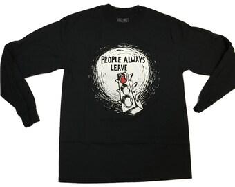People Always Leave - Long sleeve - black