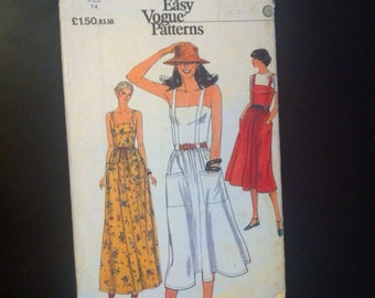 Dress Pattern. Vogue Very Easy Patterns 7382. Size 14 Bust 92cm 1970s Misses' Dress