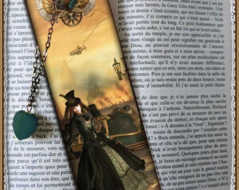 "Bookmarks laminated ""Mechanics of the heart"", steampunk, cheap gift idea"