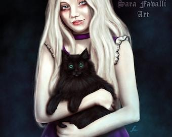Little vampire art print