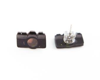 Camera Earrings, Cameras, Photography, Photography Earrings, Photography Jewelry, Camera Jewelry, Little Cameras, Tiny Cameras