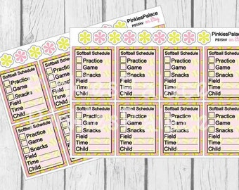 Softball Full Box Planner Stickers Game Day Planner Practice Day Planner Softball Planners eclp PS15h Perfectly Fits Erin Condren