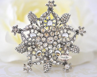 RD108 Rhinestone Metal Flatback Embellishment Button Brooch Great for wedding accessories invitations pillow crystal bouquet flowers, hair