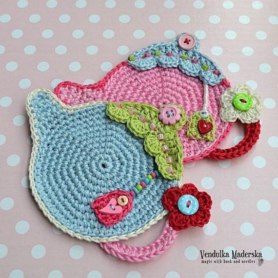 Crochet pattern Teapot Coaster by VendulkaM / Kitchen table