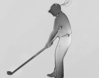 Golf Ornament-powder coated steel-male and female