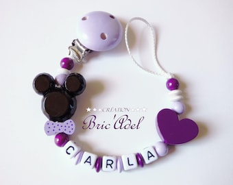 minnie pacifier pacifier, custom name, girl pacifier minnie