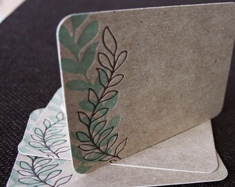 Note Card Set, Vines on Chipboard