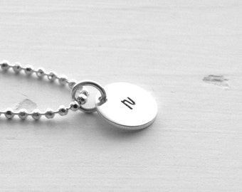 Initial Necklace, Sterling Silver Jewelry, Letter r Necklace, All Letters Available, Personalized Necklace, Charm Necklace, r, Initial Charm