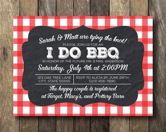 I Do BBQ Invitation - Printable Shower Invite - Engagement Party Invitation - I Do BBQ Engagement Party - Printable Invitation - I Do BBQ