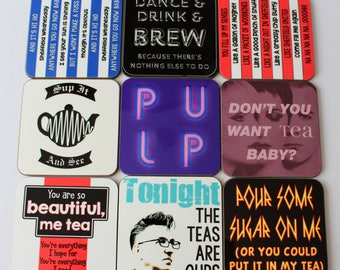 Sheffield Music themed coasters choose from 9 designs