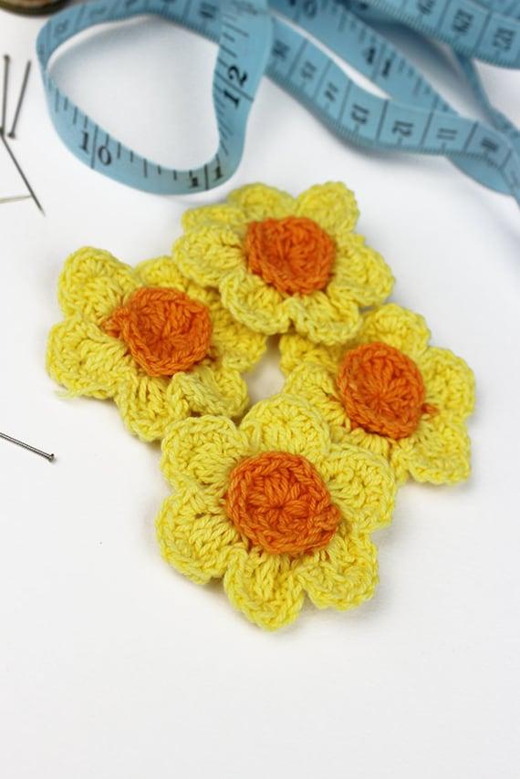 Häkelblumen Sie Narzissen 4pk häkeln Blumen häkeln