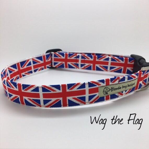 Union Jack Dog Collar, Wag the Flag, Cute Dog Collar, Flag Dog Collar, Union Jack Collar, Luxury Dog Collar