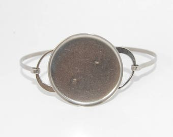 Stainless Steel Bangle Bracelet Blanks with tray 30mm