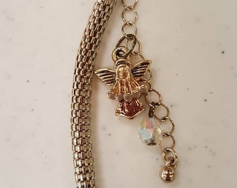 Angel purse charm in gold
