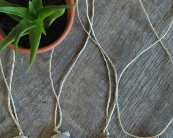 Large Seashell Wrapped Necklace