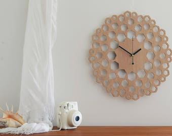 Wall Clock - Wood Wall Clock, Mother's Day Gift, Hanging Wall Clock, Living Room Clock, Home Decoration, Silent Clock, Clocks for Wall