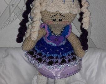 Crochet twin dolls