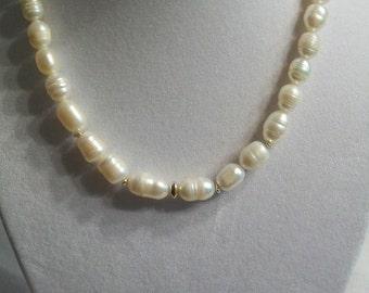 White freshwater pearls